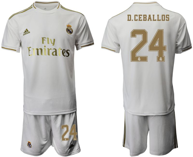 Men 2019-2020 club Real Madrid home 24 white Soccer Jerseys
