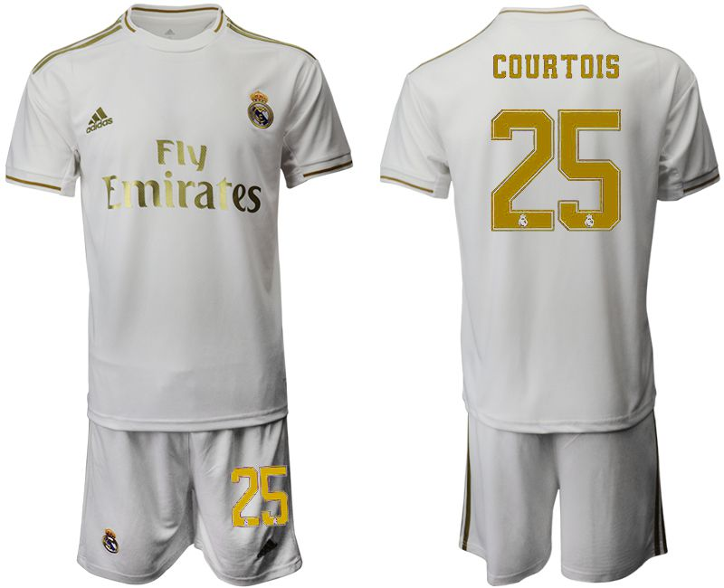 Men 2019-2020 club Real Madrid home 25 white Soccer Jerseys