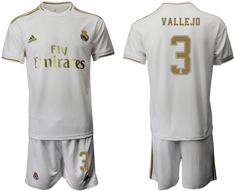 Men 2019-2020 club Real Madrid home 3 white Soccer Jerseys