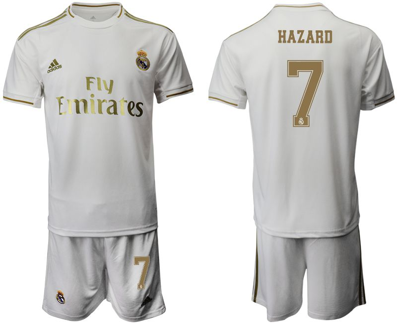 Men 2019-2020 club Real Madrid home 7 white Soccer Jerseys