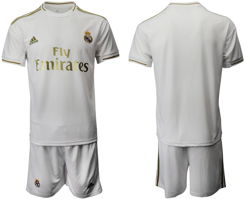 Men 2019-2020 club Real Madrid home white Soccer Jerseys
