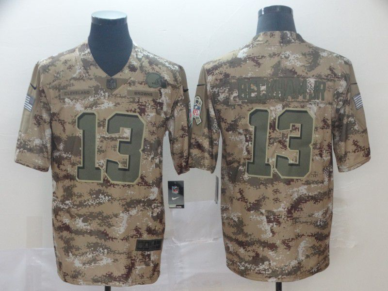Men Cleveland Browns 13 Beckham jr Camo Nike Salute To Service Limited NFL Jerseys