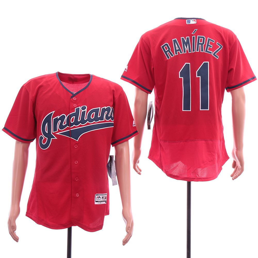 Men Cleveland Indians 11 Ramirez Red Elite MLB Jerseys