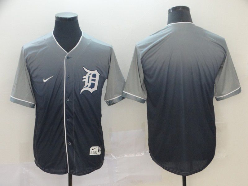 Men Detroit Tigers Blank Grey Nike Fade MLB Jersey