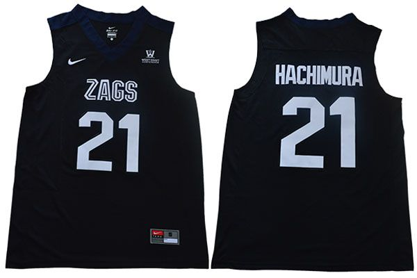 Men Gonzaga Bulldogs 21 Hachimura Black Nike NCAA Jerseys
