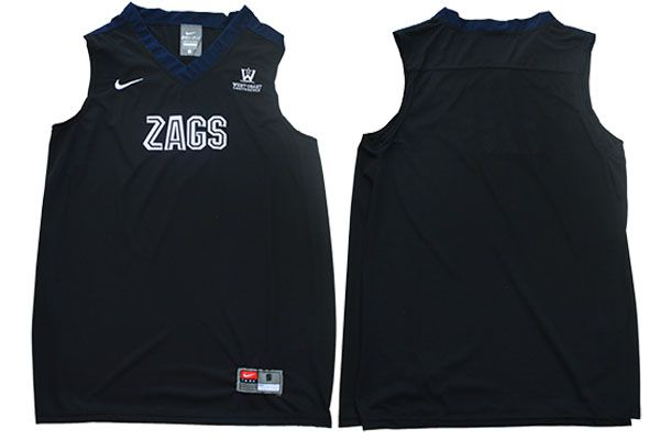 Men Gonzaga Bulldogs Blank Black Nike NCAA Jerseys