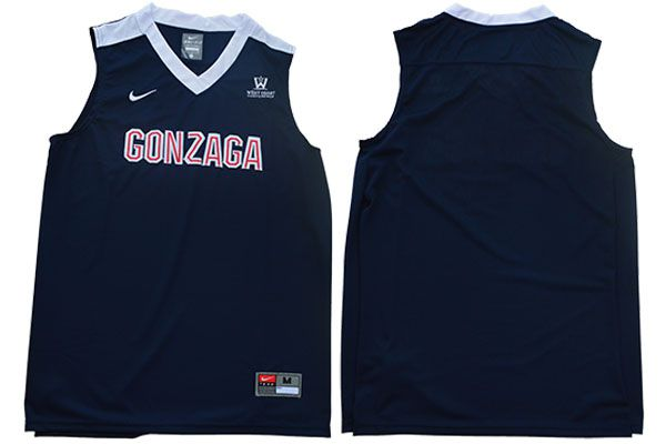 Men Gonzaga Bulldogs Blank Blue Nike NCAA Jerseys