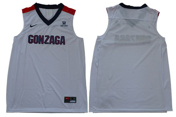 Men Gonzaga Bulldogs Blank White Nike NCAA Jerseys