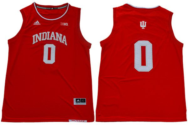 Men Indiana Hoosiers 0 Romeo Langford Red Adidas NBA NCAA Jerseys