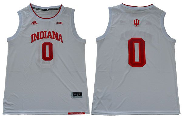 Men Indiana Hoosiers 0 Romeo Langford White Adidas NBA NCAA Jerseys