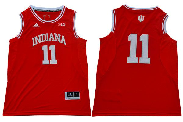 Men Indiana Hoosiers 11 Isiah Thomas Red Adidas NBA NCAA Jerseys