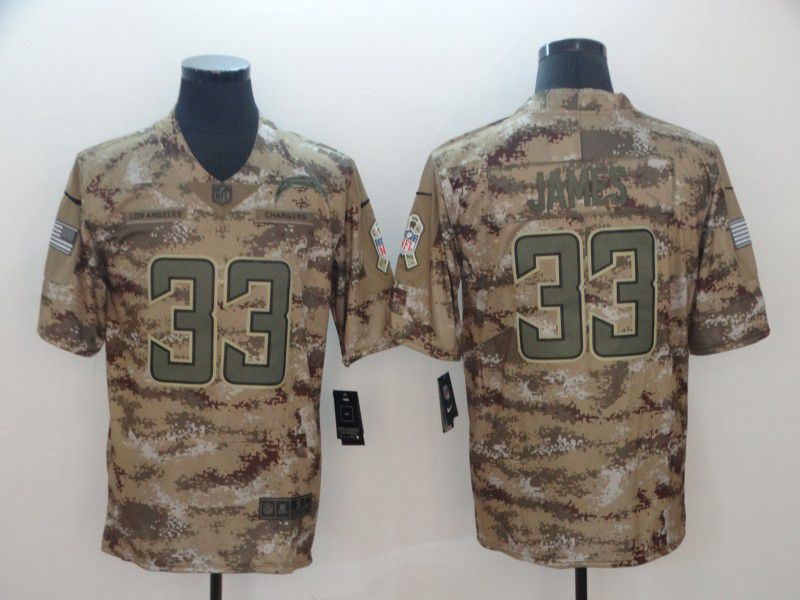 Men Los Angeles Chargers 33 James Nike Camo Salute to Service Retired Player Limited NFL Jerseys