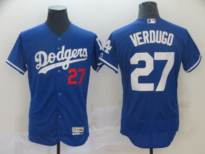 Men Los Angeles Dodgers 27 Verdugo Blue Elite MLB Jersey