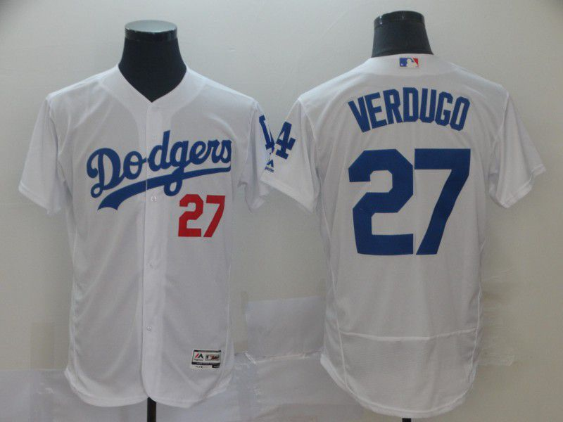 Men Los Angeles Dodgers 27 Verdugo White Elite MLB Jersey