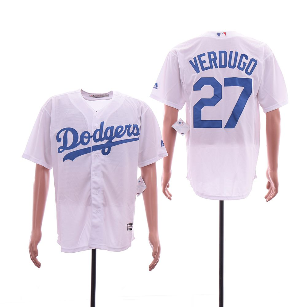 Men Los Angeles Dodgers 27 Verdugo White Game MLB Jersey