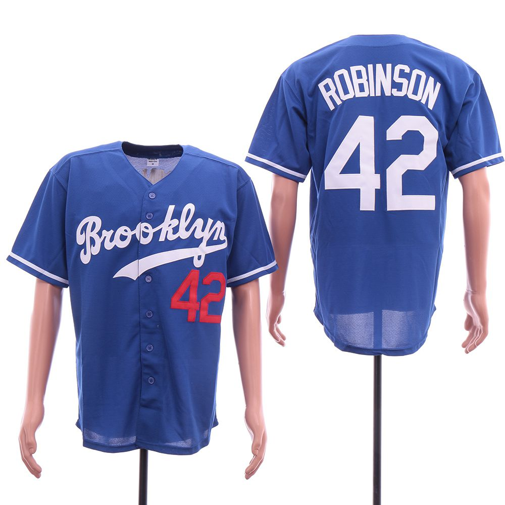 Men Los Angeles Dodgers 42 Robinson Blue Elite MLB Jerseys