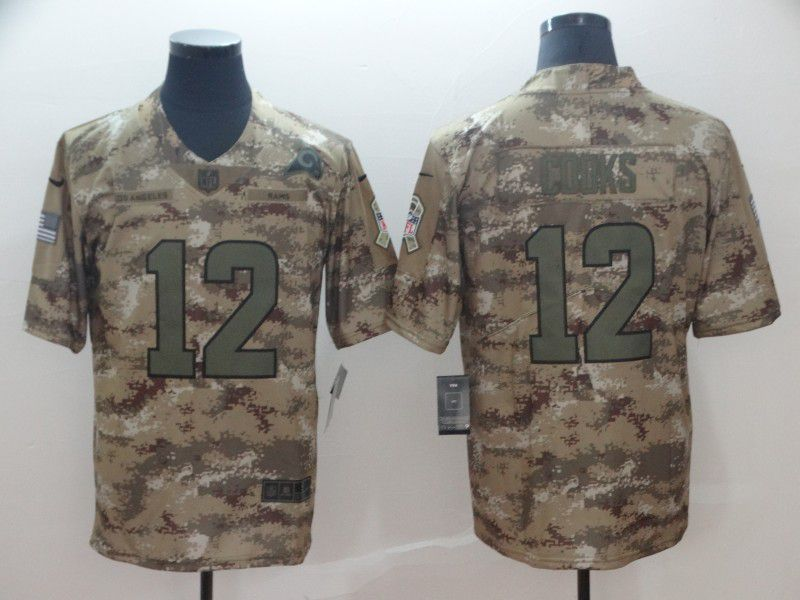 Men Los Angeles Rams 12 Cooks Nike Camo Salute to Service Retired Player Limited NFL Jerseys
