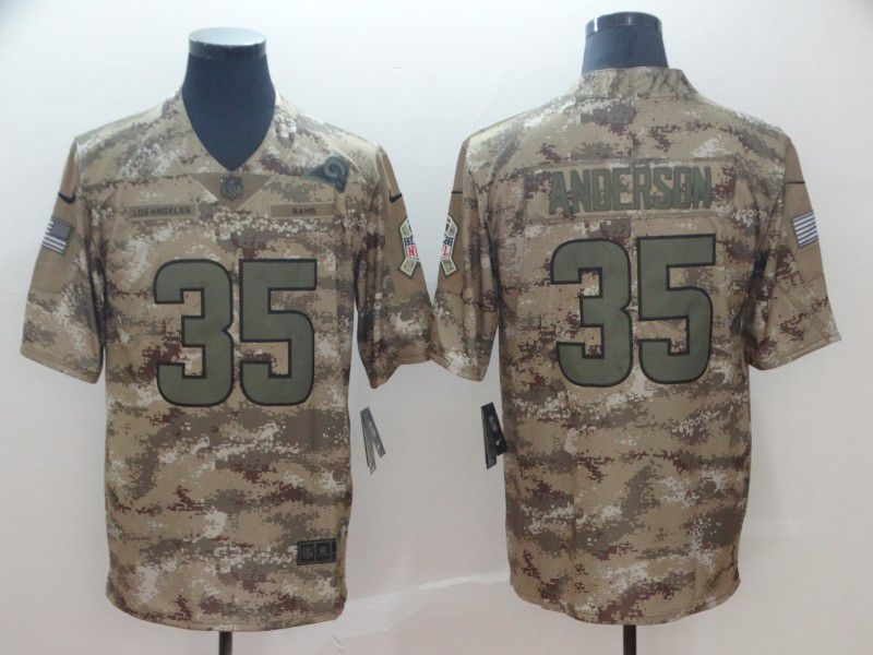 Men Los Angeles Rams 35 Anderson Nike Camo Salute to Service Retired Player Limited NFL Jerseys