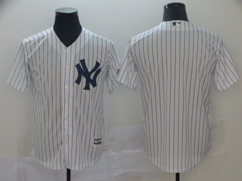 Men New York Yankees Blank White Game MLB Jersey