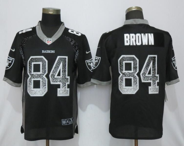 Men Oakland Raiders 84 Brown Black Nike Vapor Untouchable Drift Fashion NFL Jerseys