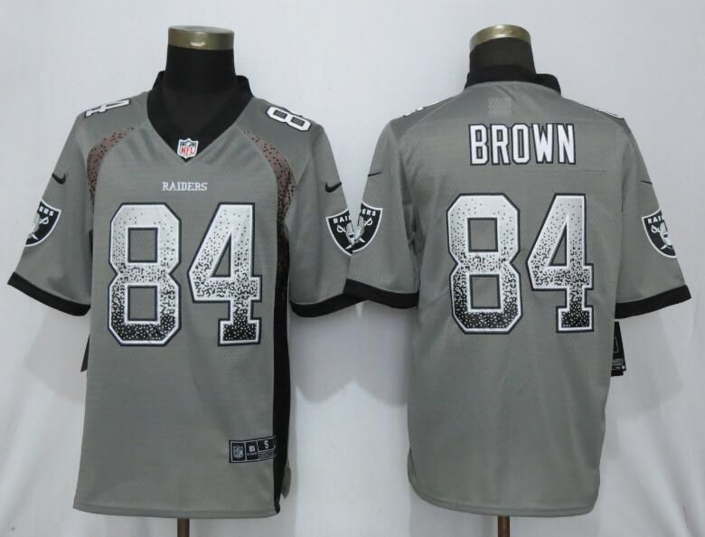 Men Oakland Raiders 84 Brown Gray Nike Vapor Untouchable Drift Fashion NFL Jerseys