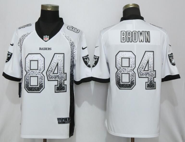 Men Oakland Raiders 84 Brown White Nike Vapor Untouchable Drift Fashion NFL Jerseys