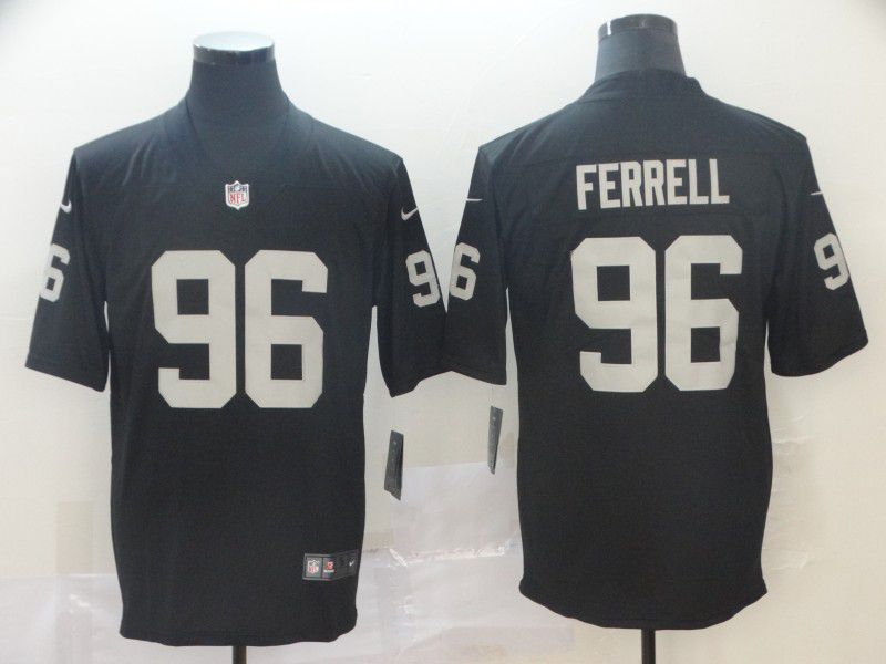 6b91dd8fb12 Men Oakland Raiders 96 Ferrell Black Nike Vapor Untouchable Limited Player  NFL Jerseys