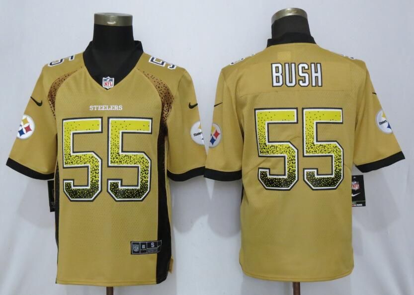 0edb4d71b0a Men Pittsburgh Steelers 55 Bush Yellow Nike Vapor Untouchable Drift Fashion  NFL Jerseys