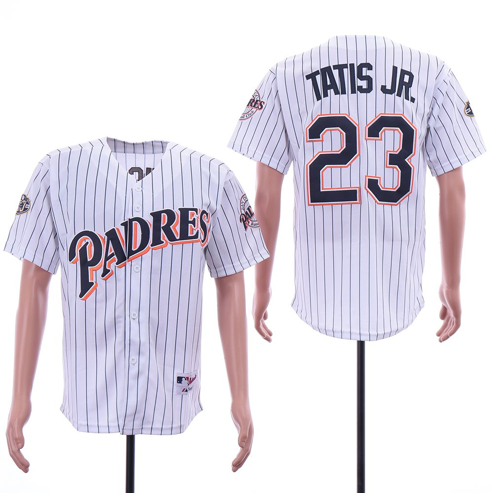 Men San Diego Padres 23 Tatis jr White MLB Jerseys