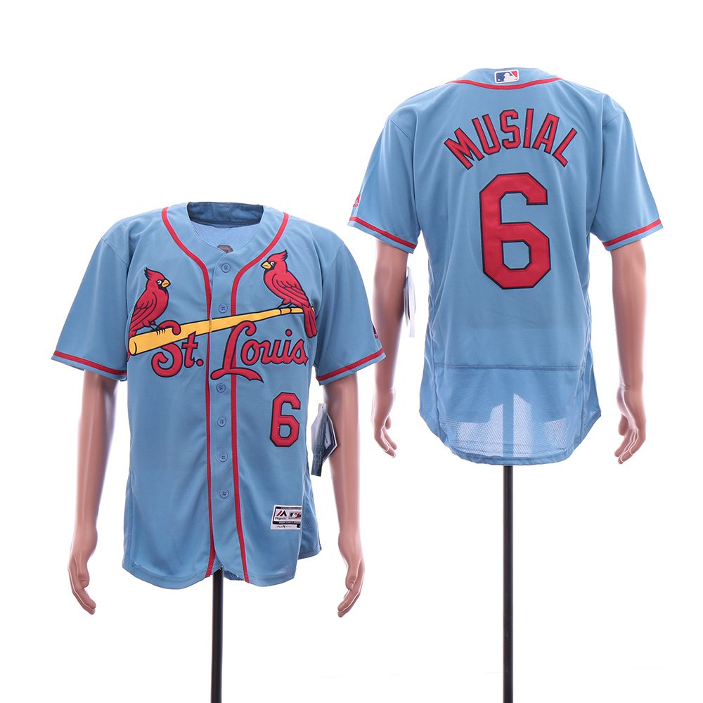 Men St. Louis Cardinals 6 Musial Blue Elite MLB Jerseys