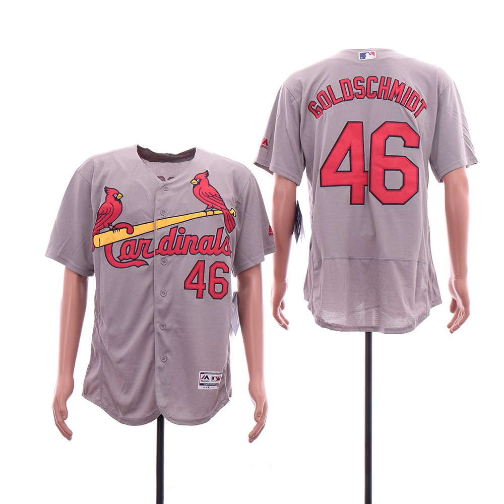 Men St.Louis Cardinals 46 Goloschmidt Grey Elite MLB Jerseys