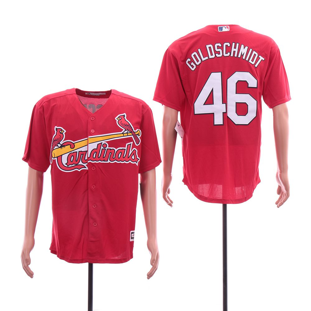 Men St.Louis Cardinals 46 Goloschmidt Red Game MLB Jerseys