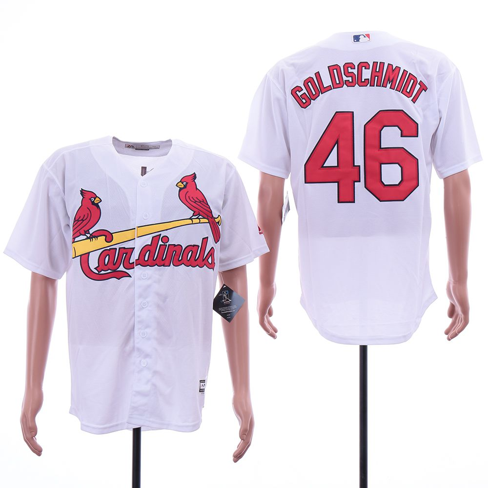 Men St.Louis Cardinals 46 Goloschmidt White Game MLB Jerseys