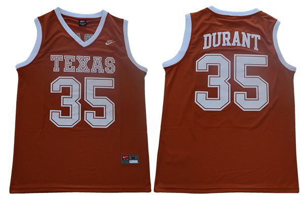 Men Texas Longhorns 35 Durant Orange Nike NCAA Jerseys