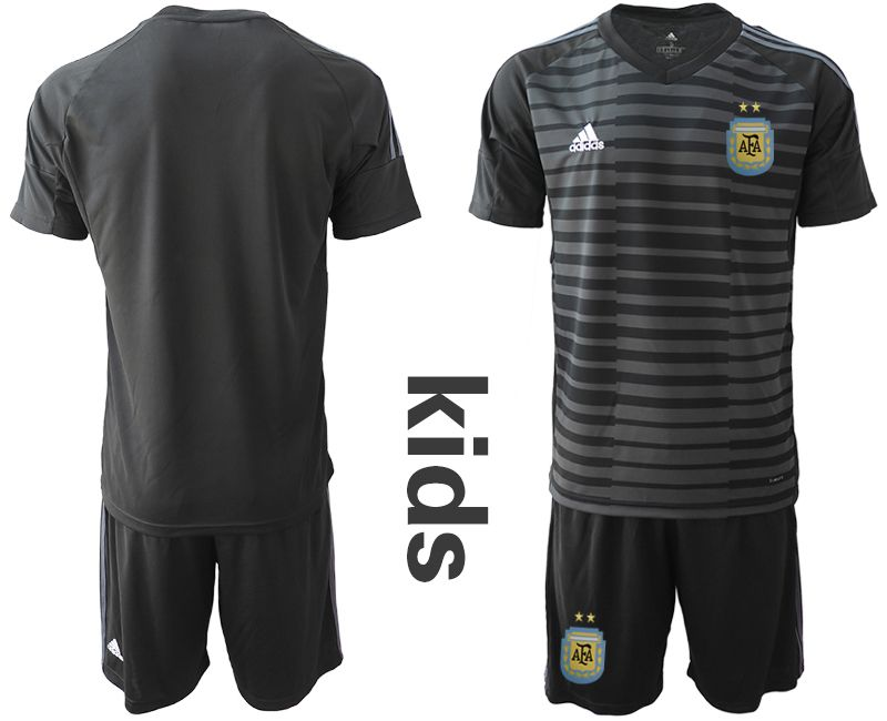 Youth 2019-2020 Season National Team Argentina black goalkeeper Soccer Jerseys