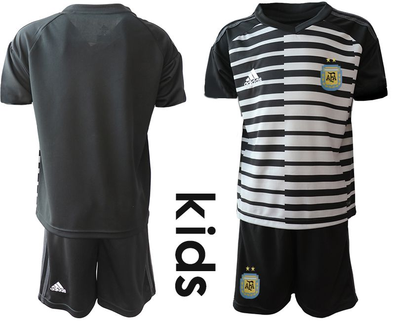 Youth 2019-2020 Season National Team Argentina black goalkeeper Soccer Jerseys1