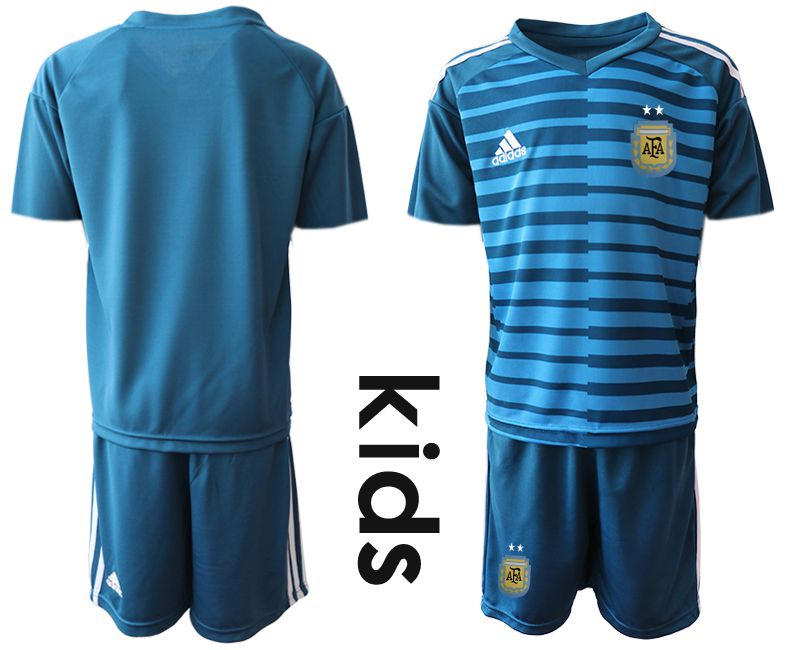 Youth 2019-2020 Season National Team Argentina blue goalkeeper Soccer Jerseys