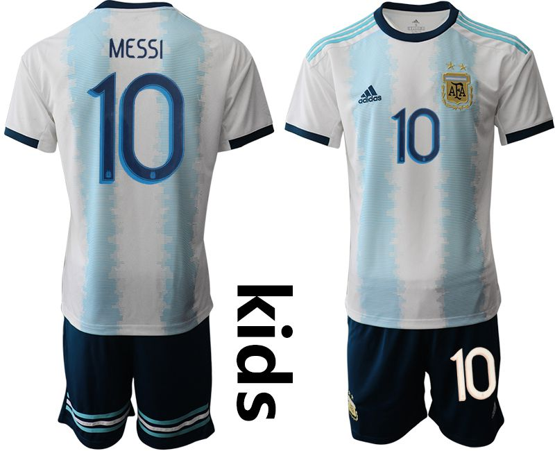 Youth 2019-2020 Season National Team Argentina home 10 white Soccer Jerseys