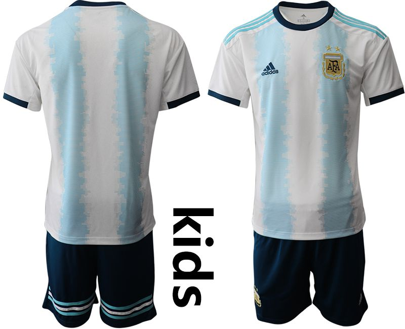 Youth 2019-2020 Season National Team Argentina home white Soccer Jerseys