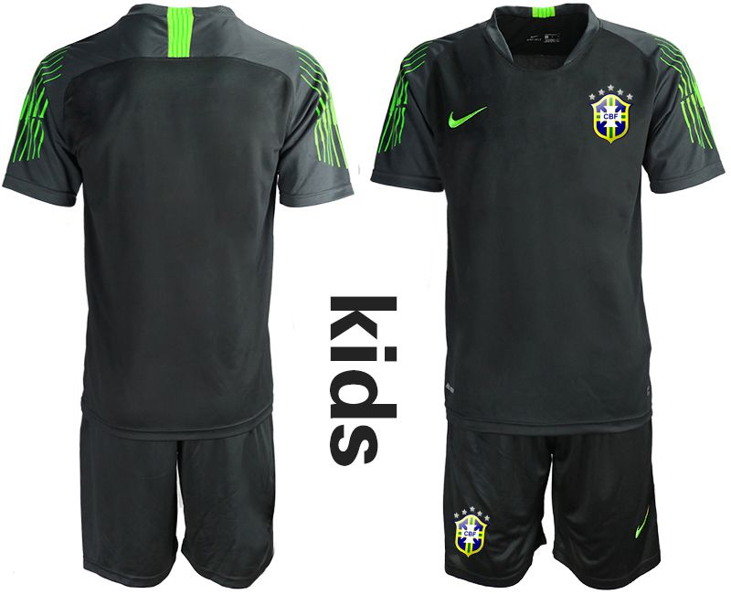 Youth 2019-2020 Season National Team Brazil black goalkeeper Soccer Jerseys