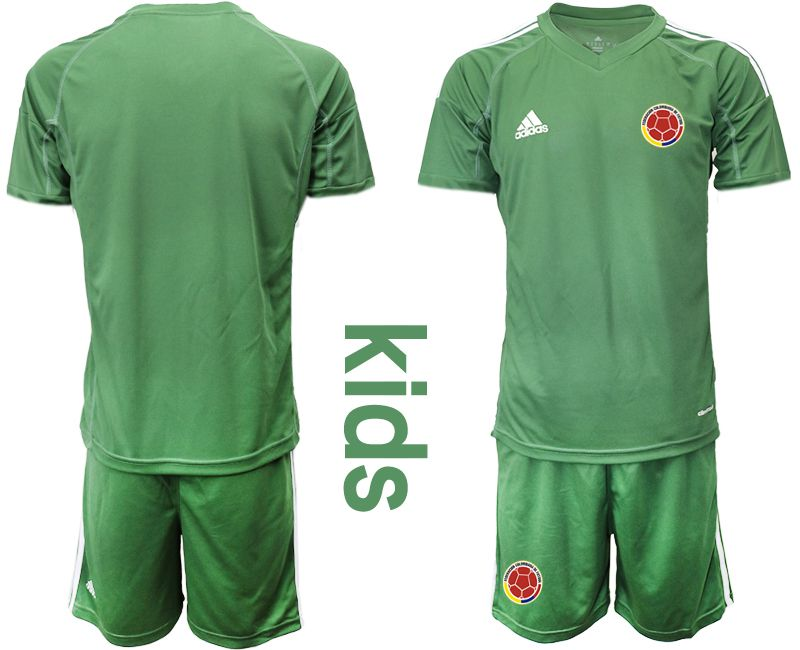 Youth 2019-2020 Season National Team Colombia army green goalkeeper Soccer Jerseys