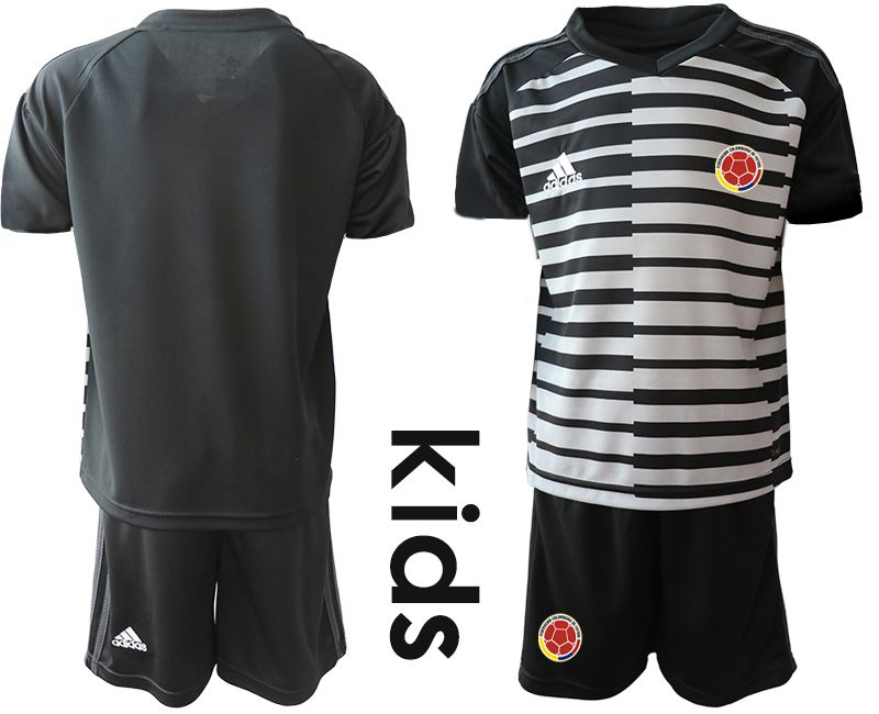 Youth 2019-2020 Season National Team Colombia black goalkeeper Soccer Jerseys