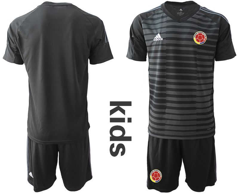 Youth 2019-2020 Season National Team Colombia black goalkeeper Soccer Jerseys1