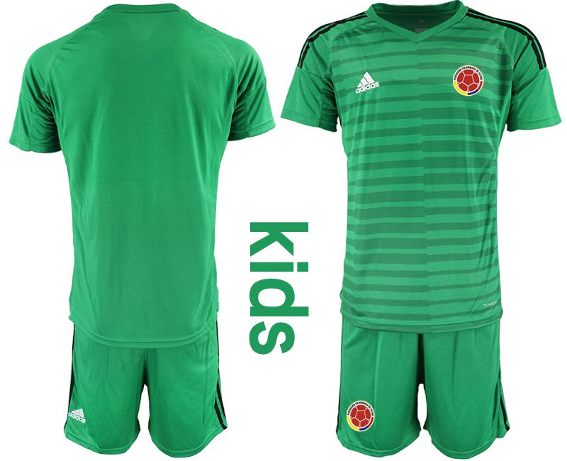 Youth 2019-2020 Season National Team Colombia green goalkeeper Soccer Jerseys