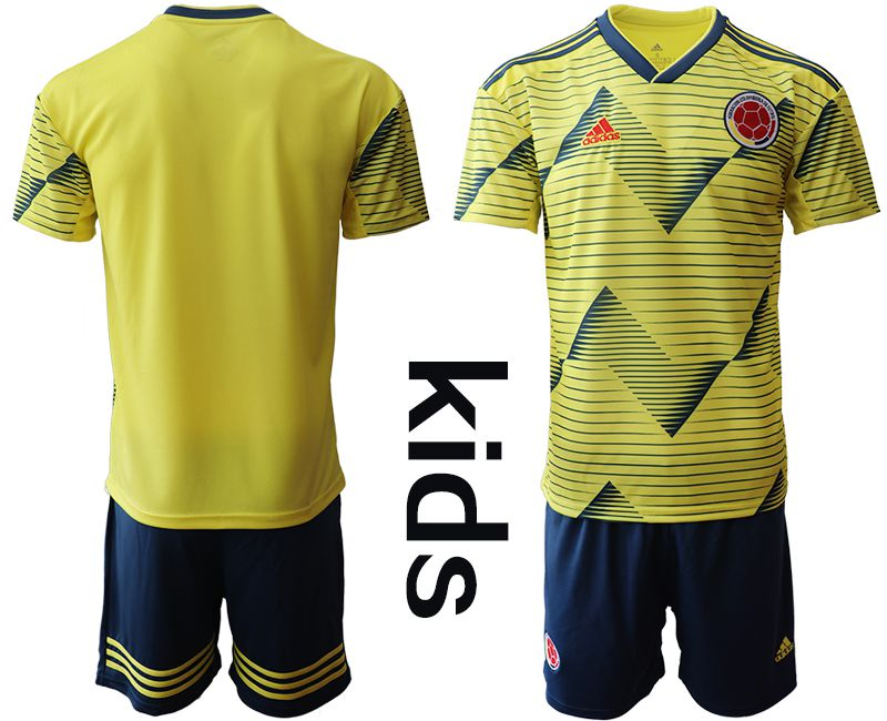Youth 2019-2020 Season National Team Colombia home yellow Soccer Jerseys