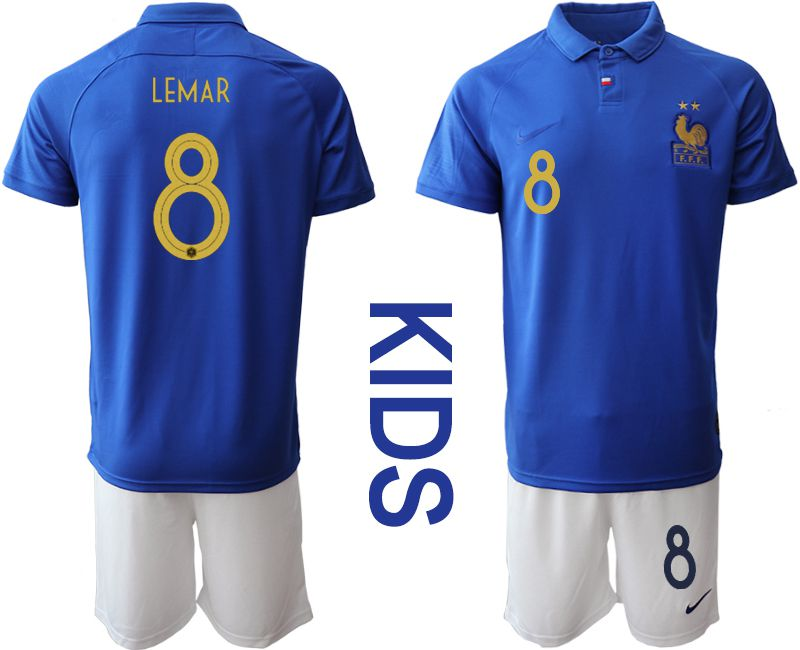 Youth 2019-2020 Season National Team France Centenary edition suit 8 blue Soccer Jerseys