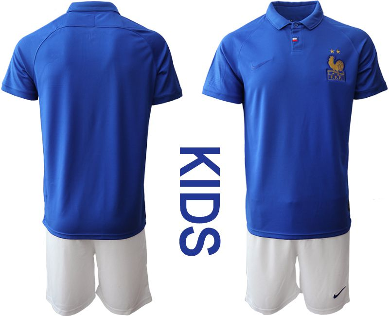 Youth 2019-2020 Season National Team France Centenary edition suit blue Soccer Jerseys