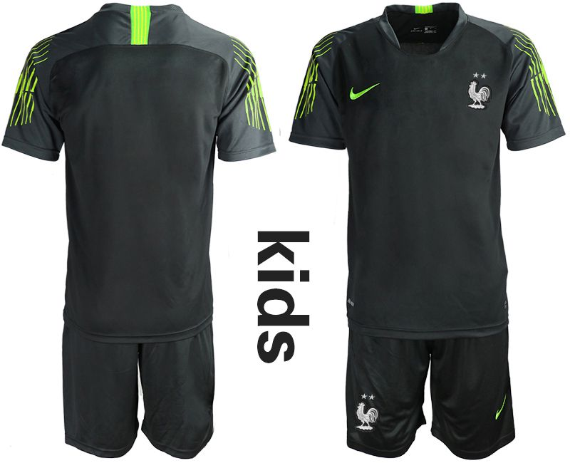 Youth 2019-2020 Season National Team France black goalkeeper Soccer Jerseys