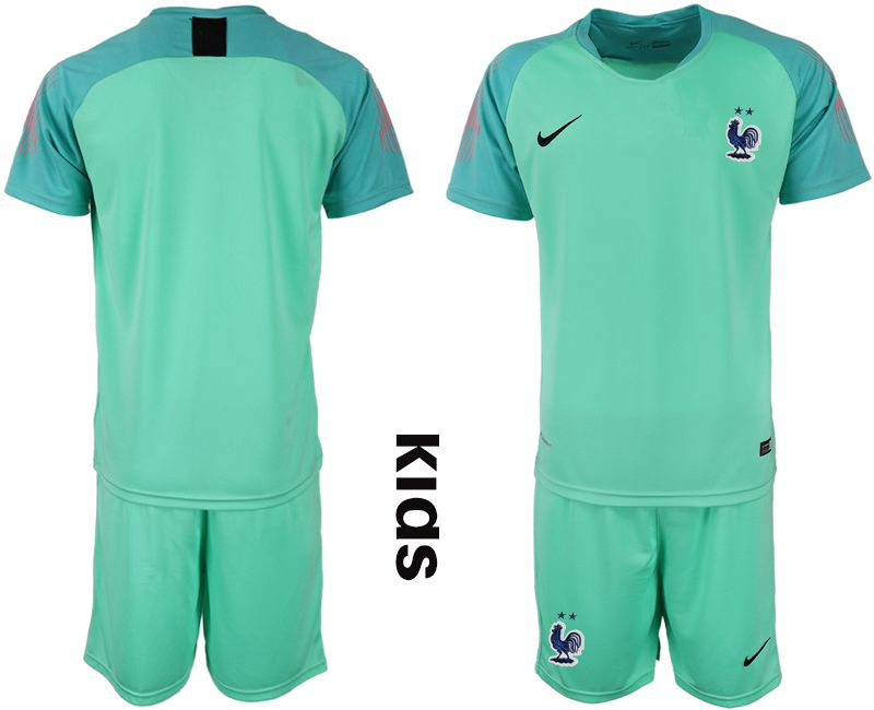 Youth 2019-2020 Season National Team France green goalkeeper Soccer Jerseys
