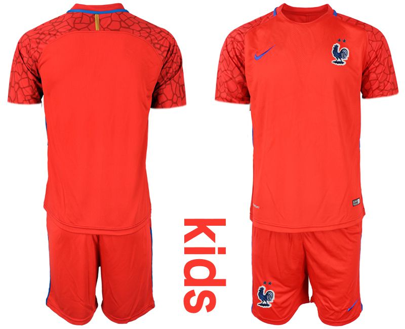 Youth 2019-2020 Season National Team France red goalkeeper Soccer Jerseys